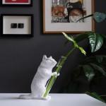 다람쥐 화병 - 스탠다드한송이 꽃병 오브제 인테리어 시약병 유리