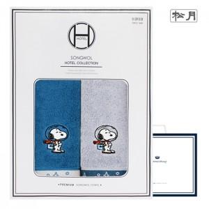 송월 스누피 스페이스 2매 선물세트(쇼핑백) s