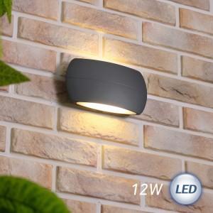 LED 몬트 벽등 12W (다크그레이)