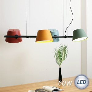 LED 엔젤 지그재그 4등 펜던트 60W