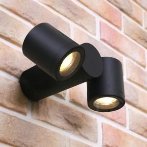 트윈 2등 외부 벽등 ( LED GU10 사용 )