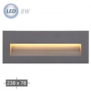 LED 250 외부 계단매입 (그레이) ( LED 8W 3000K )