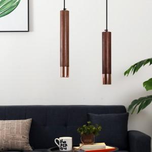 우디 월넛 1등 펜던트 H300 / H400 ( 월넛+코퍼 ) ( LED GU10 사용 )가격:80,000원