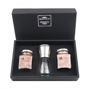 히말라야 굵은핑크소금 + 고운은핑크소금 + 고급 스텐그라인더 선물세트 (쇼핑백포함)