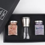 히말라야 굵은핑크소금 + 블루베리소금 + 고급 스텐그라인더 선물세트 (쇼핑백포함)
