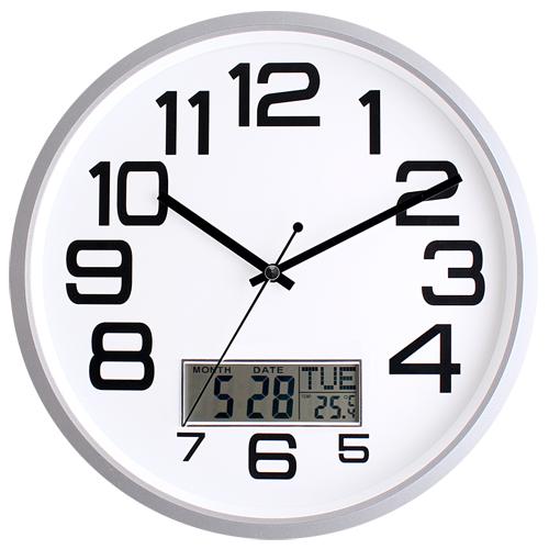 국민캘린더온습도무소음벽시계 JS6018