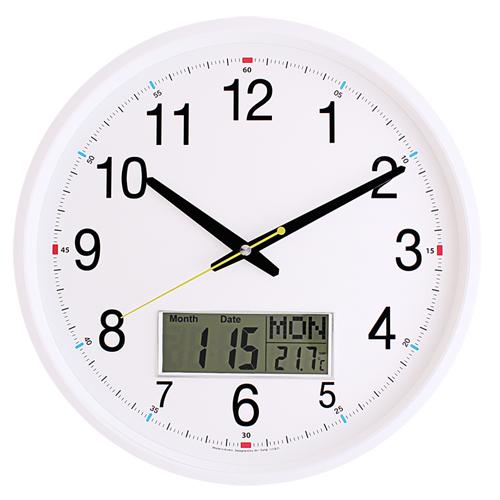 국민캘린더무소음벽시계 JS6014