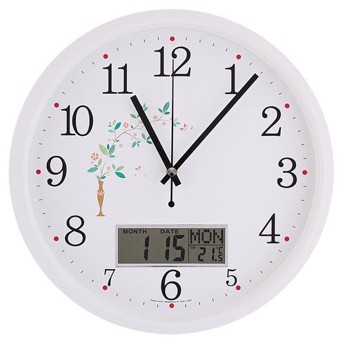 국민캘린더무소음벽시계 JS6010