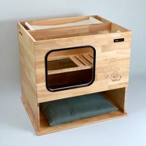 고양이 원목 화장실-해먹형 (캣하우스 겸용)가격:264,000원