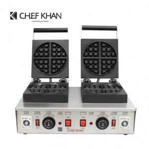 [쉐프칸] 업소용 벨기에 와플기계 2구 (3x3) CFK-202