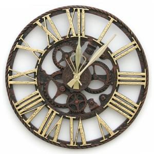 톱니바퀴시계-대[골드]벽시계