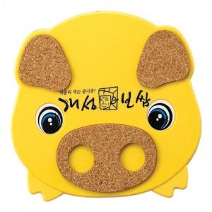 돼지콜크냄비받침(노랑) [09k-0788-02 ]