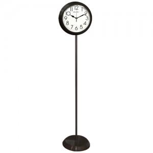 무소음 메탈스탠드 시계 (월넛, 화이트) 선택