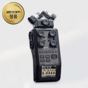 ZOOM H6 Black 6채널 전문가용 녹음기(악기,공연,믹싱)