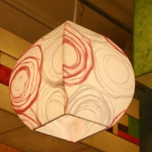 [한지등] 단지팬던트[분홍솜사탕]-대각선 사이즈