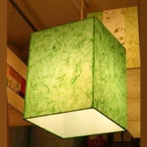 특가 [한지등] 사각2호팬던트[녹색한지]