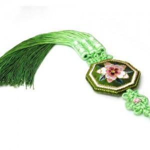 팔각 꽃수 노리개 3가격:16,900원