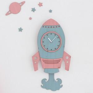 우주선 무소음벽시계