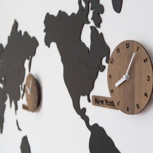 월드타임 무소음벽시계[인쇄문구 안됨] (시계+판 3개, 세계지도 1세트)