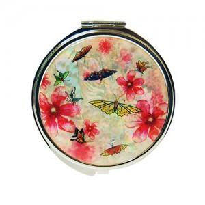 수묵꽃나비 원형손거울