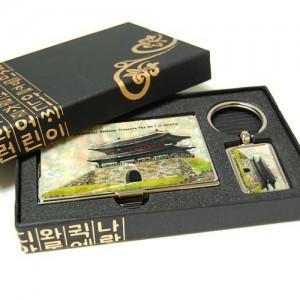 컬러나전2종세트-숭례문 명함케이스 , 열쇠고리 세트가격:23,000원