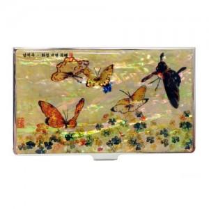 [남계우]화접도 휴대명함집 - 토끼풀과 나비가격:15,000원
