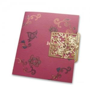 카드 책갈피-당초나비