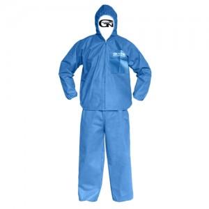 PP 파란색 투피스 보호복 24PCS
