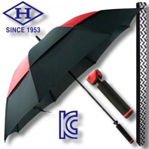 제작용 77 알루미늄 FRP 이중방풍 수동 골프우산-블랙&레드가격:14,850원
