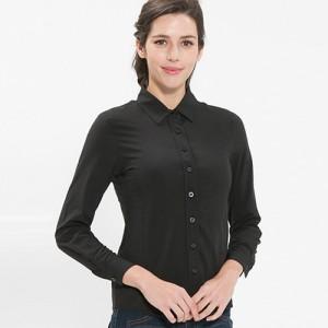 여성 긴팔 단색 블라우스 /블랙(B-102L)가격:23,000원