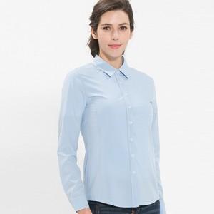 여성 긴팔 단색 블라우스 /스카이블루(B-103L)가격:23,000원