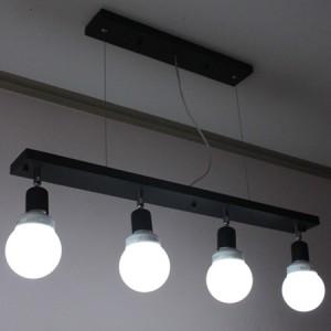 [바이빔] 심플4등팬던트조명[블랙]-볼삼파장전구포함