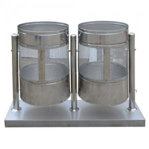 [H1-18]가로형 휴지통(2칸연결)