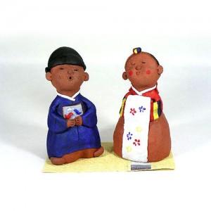 전통 옹기 인형세트_신랑각시3가격:39,000원