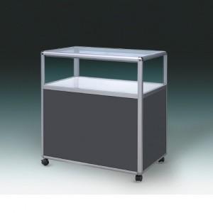 HJ9-901 알미늄 1단 회색 진열장