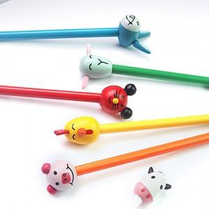 동물캐릭터목각연필