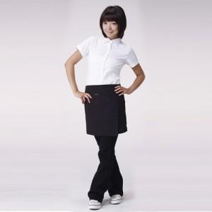 블랙색상 핑클(미니)랩끈앞치마 PK-349