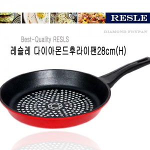 레슬레 다이아 프라이팬(홍)28cm