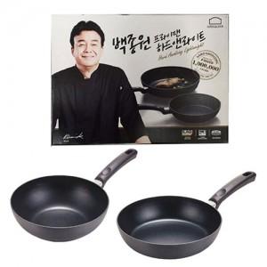 [팬/조리기]백선생 후라이팬 세트(팬+웍)