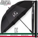 [골프우산]프랑코페라로 77 이중방풍 수동 골프우산(블랙)