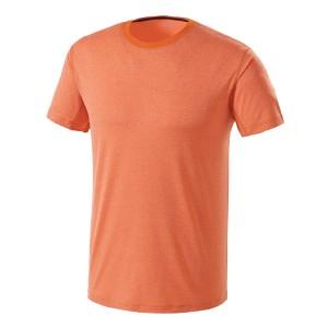 멜란지냉감 라운드 티셔츠