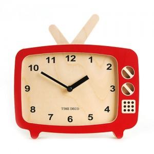 TV Clock (Red)