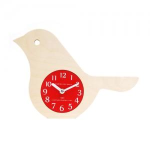 Bird Clock (Red)