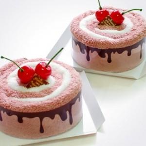[극세사 초코크림케익]케익타올/수건/타올/생일선물