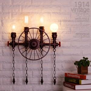 1914 빈티지 시리즈 수도관 휠4등 벽등 (엔틱)