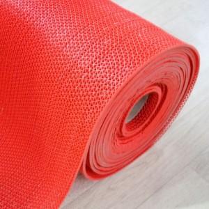 고무 웨이브 맘보매트-빨강(두께4.5mm*길이15M)