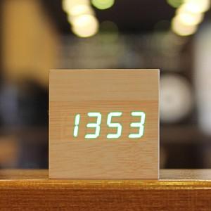 인테리어 신형 LED 나무 우드 탁상시계-미니가격:20,800원