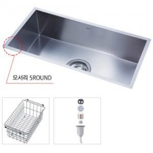[세트판매]SQSR900(oem) (싱크볼+후크배수구+와이어바스켓 SET)백조싱크/주방용품/무료배송