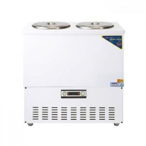 그랜드우성/육수냉장고 3말쌍통2라인/칼라(흰색)/아날로그 CWSR-313