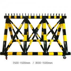 스틸바리게이트 H1500×L2500×100Φ×50Φ,L3000